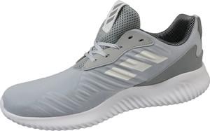 Srebrne buty sportowe Adidas sznurowane