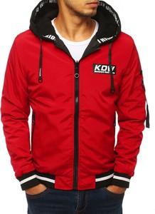 Czerwona kurtka Dstreet w młodzieżowym stylu