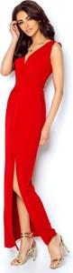 Czerwona sukienka Ivon na ramiączkach maxi