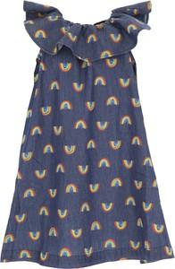 Niebieska sukienka dziewczęca Stella McCartney z bawełny