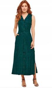 Sukienka Inna marka z dekoltem w kształcie litery v na ramiączkach