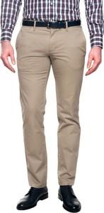 Beżowe spodnie recman bez wzorów
