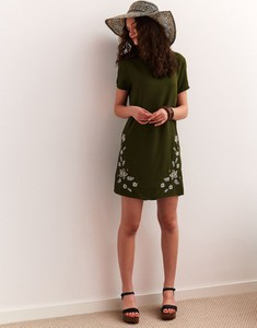 Zielona sukienka Top Secret z tkaniny