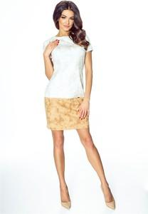 c55a72c7c8 sukienka łączona ze skórą. - stylowo i modnie z Allani