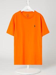 Pomarańczowa bluzka dziecięca POLO RALPH LAUREN z bawełny