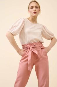 Różowa bluzka ORSAY z krótkim rękawem z okrągłym dekoltem