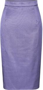 Fioletowa spódnica Fokus z szyfonu