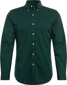 Zielona koszula POLO RALPH LAUREN z klasycznym kołnierzykiem z bawełny