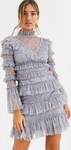 Sukienka By Malina z długim rękawem mini