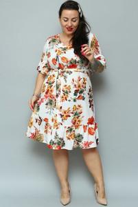 Sukienka KARKO dla puszystych midi