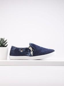 Granatowe trampki dziecięce Yourshoes z tkaniny