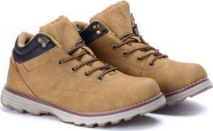 Brązowe buty trekkingowe Royalfashion.pl w sportowym stylu