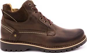Brązowe buty zimowe Komodo sznurowane