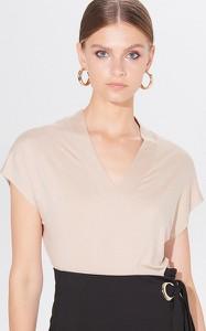 Bluzka Mohito z dekoltem w kształcie litery v z krótkim rękawem w stylu casual