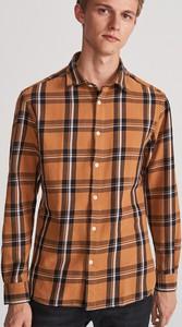 Pomarańczowa koszula Reserved z długim rękawem