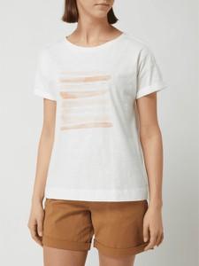 T-shirt Esprit z bawełny z krótkim rękawem