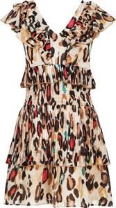 Sukienka Liu-Jo rozkloszowana mini z dekoltem w kształcie litery v