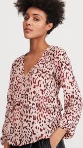 Różowa bluzka Reserved w młodzieżowym stylu z długim rękawem