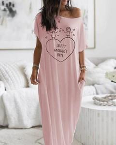 Sukienka Kendallme maxi z krótkim rękawem