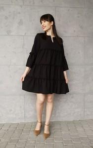 Czarna sukienka Sklepfilloo z długim rękawem