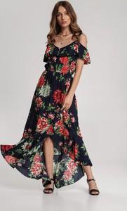 Granatowa sukienka Renee maxi w stylu boho