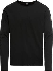 Czarna koszulka z długim rękawem Replay w stylu casual