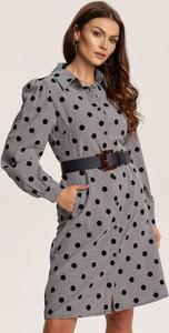 Sukienka Renee z długim rękawem mini z kołnierzykiem