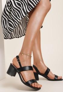 Sandały Renee z klamrami ze skóry