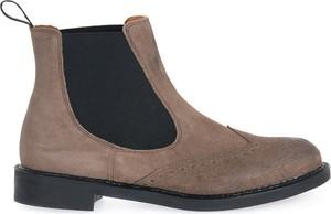 Brązowe buty zimowe Frau