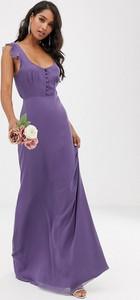 Granatowa sukienka Maids To Measure z dekoltem w kształcie litery v