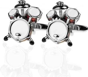 Em Men`s Accessories Spinki do mankietów tematyczne perkusja bębny EM 43