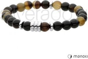 Silverado bransoletka w odcieniach brązu z naturalnego agatu dla mężczyzn 77-ba418a
