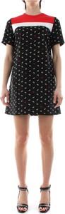 Czarna sukienka Pinko z krótkim rękawem