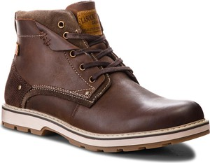 Brązowe buty zimowe Lasocki For Men w stylu casual ze skóry