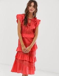 Różowa sukienka Rd & Koko w stylu boho
