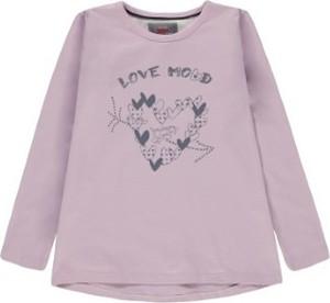 Różowa bluzka dziecięca Kanz dla dziewczynek z bawełny z długim rękawem