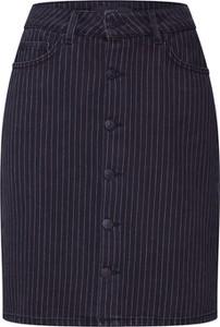 Granatowa spódnica Why7 w stylu klasycznym z bawełny midi
