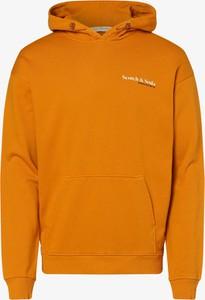 Pomarańczowy sweter Scotch & Soda z bawełny