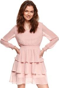 Sukienka Top Secret z długim rękawem mini w stylu casual