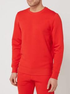 Czerwona bluza Montego w stylu casual z bawełny