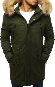 Zielona kurtka Dstreet w stylu casual z bawełny