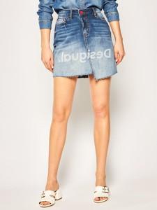 Spódnica Desigual z jeansu mini w stylu casual