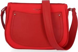 Czerwona torebka David Jones ze skóry ekologicznej w stylu glamour