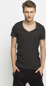 T-shirt Review z krótkim rękawem w młodzieżowym stylu