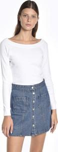 T-shirt Gate z bawełny z długim rękawem w stylu casual