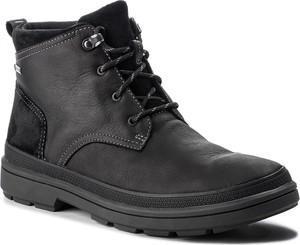 Buty zimowe Clarks sznurowane w stylu casual z goretexu