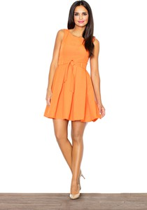 Pomarańczowa sukienka Figl mini
