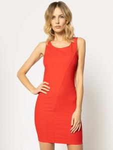 Czerwona sukienka Patrizia Pepe dopasowana