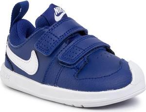 Niebieskie trampki dziecięce Nike na rzepy