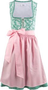 Sukienka bonprix bpc bonprix collection z dekoltem w karo bez rękawów